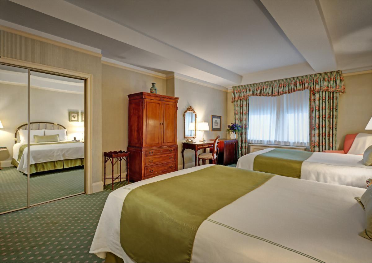 Deluxe Double Room with 2 double size beds in Midtown Manhattan's Hotel Elysee.  Approximately 300 square feet and suitable for up to 2 adult guests.