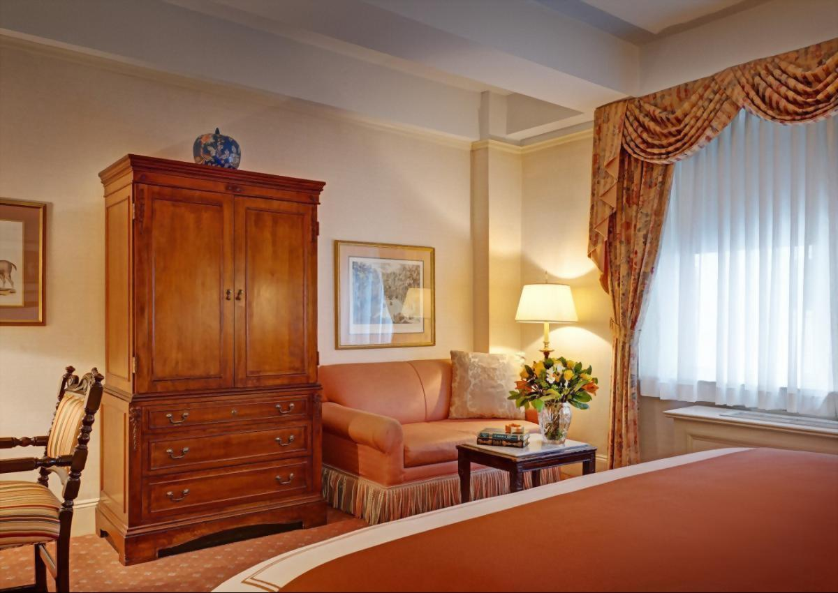 Deluxe King Room with 1 King bed at the Hotel Elysee in Manhattan.  Approximately 300 square feet and suitable for up to 2 adults.