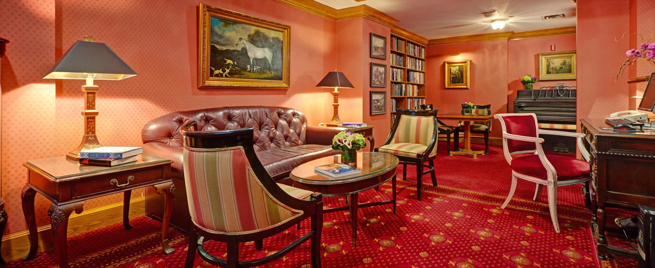 The Library at the Hotel Elysee by Library Hotel Collection is open for guests to enjoy a book, or use the computer.  There is a printer available for printing tickets or boarding passes.