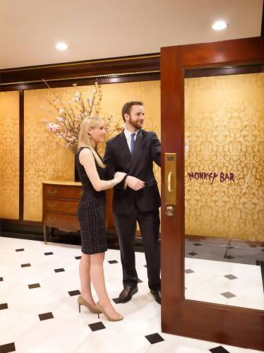 The famed Monkey Bar in New York City has an entrance right from the lobby of the Hotel Elysee in New York City.  Enjoy a delicious cocktail or grab a bite for lunch or dinner.  You won't be disappointed!