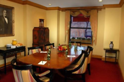 Boardroom at the Hotel Elysee in Midtown Manhattan is perfect for intimate meetings and can accommodate up to 8 guests comfortably.
