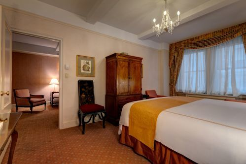 King Suite with King Bed and one Queen Sofa Bed at the Hotel Elysee