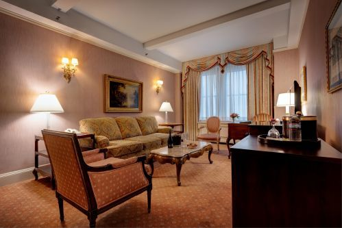 King Suite Living Room with a queen size sofa bed for an additional guest